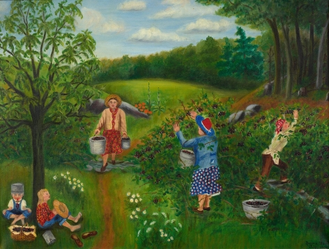 Queena Stovall (1887-1980), Blackberry Picking,July 1950
