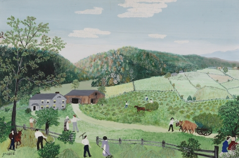 """Anna Mary Robertson """"Grandma"""" Moses (1860-1961), Haying in Vermont, 1948"""