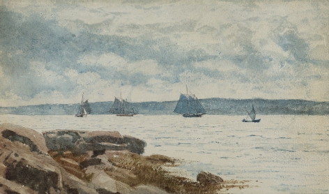 Winslow Homer (1836-1910), Sailboats at Gloucester, 1880