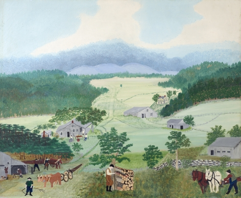 "Anna Mary Robertson ""Grandma"" Moses (1860-1961), First Wagon on Cambridge Pike, 1944"
