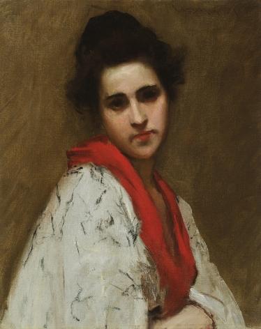 William Merritt Chase (1849-1916), Portrait of a Woman (Lady in Kimono), circa 1890