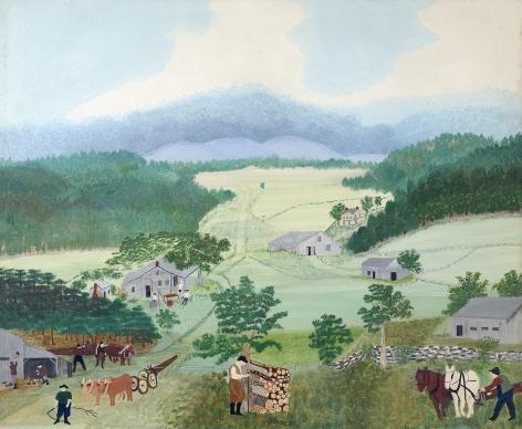 "Anna Mary Robertson ""Grandma"" Moses (1860-1961), First Wagon on Cambridge Pike, 1944"