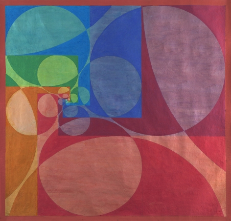 Benny Collin (1896-1980), Untitled (Abstraction in Red, Blue, Green, and Orange),