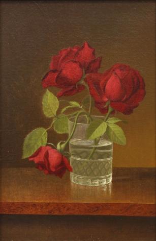 ready for BeaconMartin Johnson Heade (1819-1904), Still Life with Roses in a Glass, circa 1878-1883