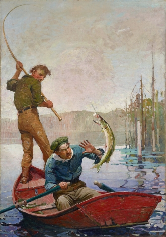 Frank Earle Schoonover (1877-1972), Pickerel, 1917
