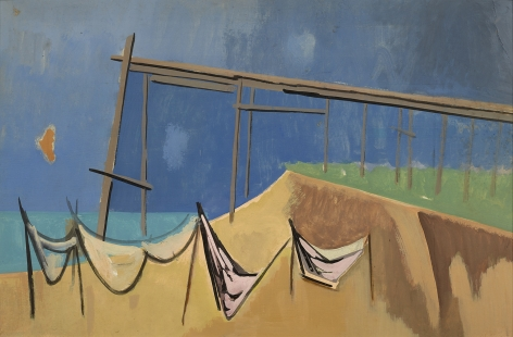 Herman Maril (1908-1986), Pier and Nets: a double-sided work