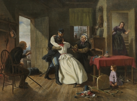 Felix Octavius Carr Darley (1822-1888), The Return, 1866