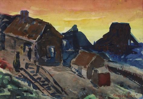 George Benjamin Luks (1867-1933), Shanty Shacks, Pottsville, Pennsylvania, circa 1925