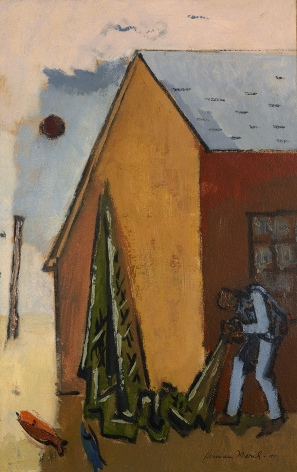Herman Maril (1908-1986), Net and Barn, 1951