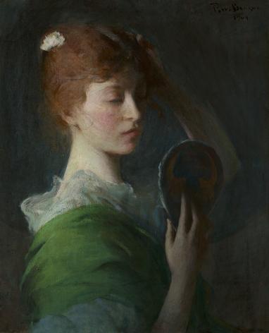 Frank Weston Benson (1862-1951), Mary Sullivan (Woman Looking in a Mirror), 1904