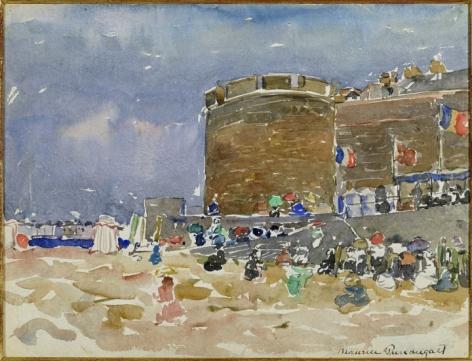 Maurice Brazil Prendergast (1859-1924), Old Town, St. Malo, circa 1907