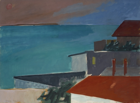Herman Maril (1908-1986), Evening Rooftops, Provincetown, 1969