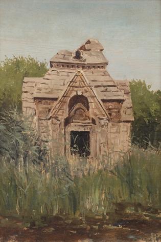Lockwood de Forest (1850-1932), Ruins, Jungle, Pandrethan, Kashmir