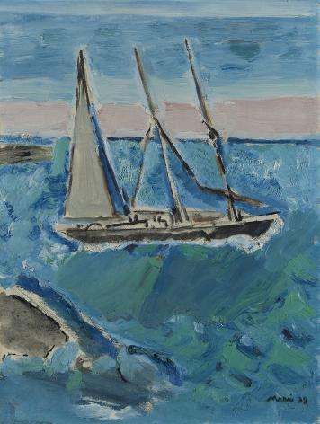 John Marin (1870-1953), Sail Boat and Sea, Maine, 1938