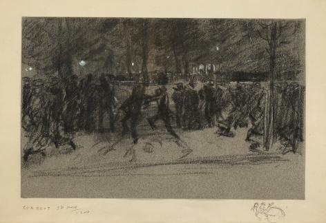 Everett Shinn (1876-1953), The Band, Washington Square, 1904