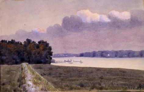 Oscar Bluemner (1867-1938), Landscape with River