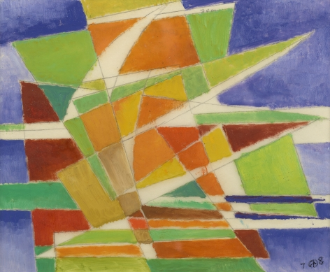 Werner Drewes (1899-1985), Backward Leaning, 1978