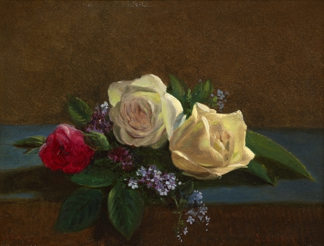 John O'Brien Inman (1826-1896), Still Life with Roses