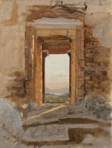 Lockwood de Forest (1850-1932), Parthenon Facing the Sea, Greece