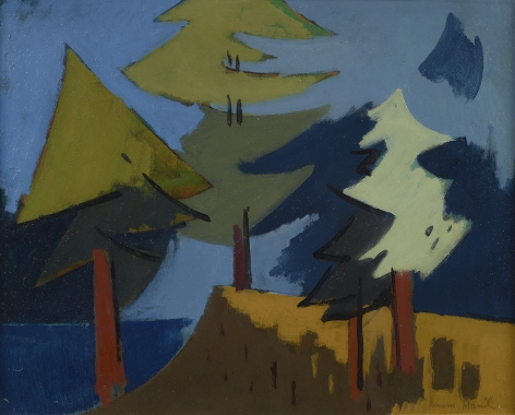 Herman Maril (1908-1986), Trees, Maine, 1962
