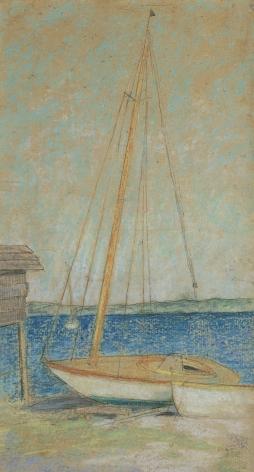 "Julian Alden Weir (1852-1919), Study for ""Sailboats"", circa 1913"