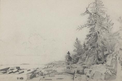 William Trost Richards (1833-1905), Mount Desert Landscape, 1866