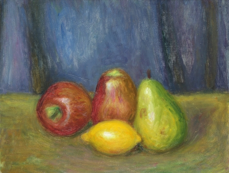 William Glackens (1870-1938), Apples, Lemon, and Pear