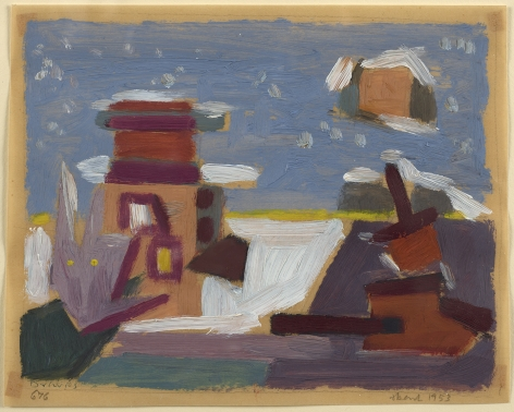 Werner Drewes (1899-1985), Untitled Abstract #676, 1953