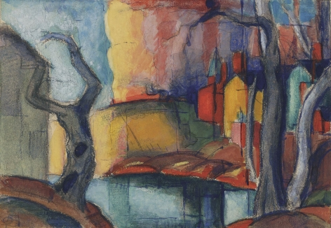 Oscar Bluemner (1867-1938), Scandal in the Village, 1919