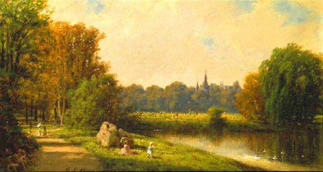 George Lafayette Clough (1824-1901), An Afternoon in the Park, circa 1870