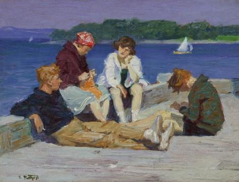 Edward Henry Potthast (1857-1927), Beach Scene #4, circa 1920