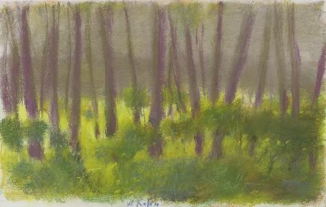 Wolf Kahn (b. 1927), Focused on the Undergrowth, 2003