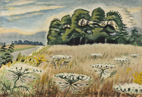 Charles Ephraim Burchfield (1893-1967), Queen Anne's Lace at Twilight, 1951-1956