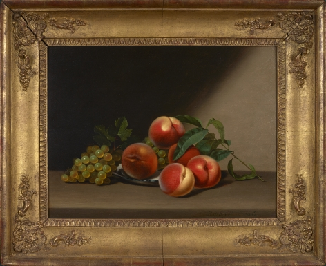 Raphaelle Peale (1774-1825), Still Life with Peaches and Grapes, 1822