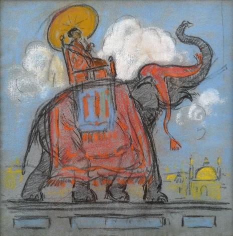 figure on elephant