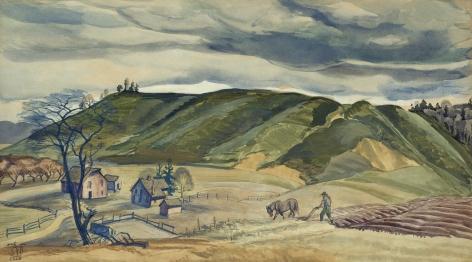 Charles Ephraim Burchfield (1893-1967), November Plowing, 1928