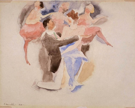 Charles Demuth (1883-1935), In Vaudeville, Man and Woman with Chorus, 1916