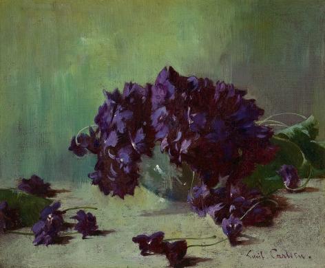 Soren Emil Carlsen (1853 – 1932), Still Life with Violets, circa 1895