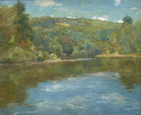 Julian Alden Weir (1852-1919), Shetucket River, circa 1910