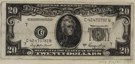 Otis Kaye (1885-1974), Twenty Dollar Bill