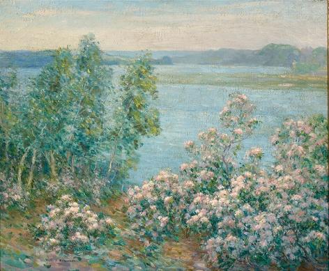 William S. Robinson (1861-1945), Laurel by the Connecticut River, circa 1920s