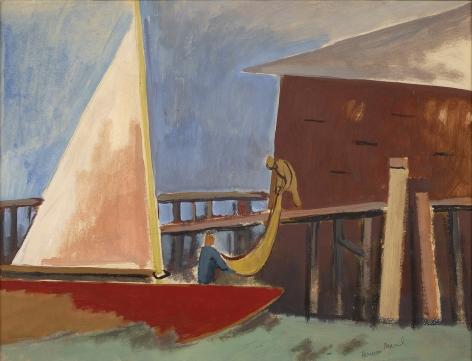 Herman Maril (1908-1986), Coming In, 1960