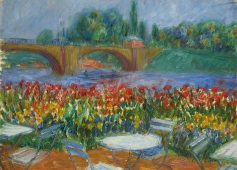 William Glackens (1870-1938) , Bridge and Restaurant