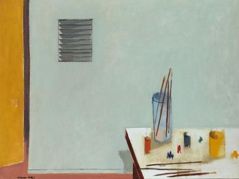 Herman Maril (1908-1986), Studio Corner, 1977