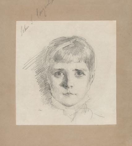 John Singer Sargent (1856-1925) , Head of a Young Girl, circa 1875-1878