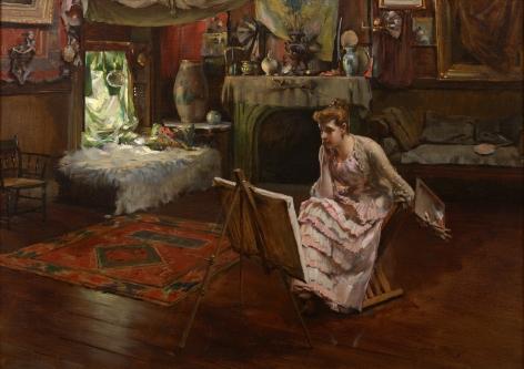 Irving Ramsey Wiles (1861-1948), Idleness, circa 1889