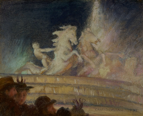 Charles Courtney Curran (1861-1942), MacMonnies Fountain, World's Columbian Exposition, Chicago, 1893
