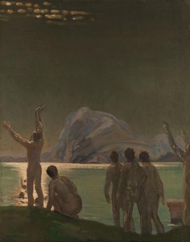 Arthur Bowen Davies (1862-1928), Shining Oceansides, 1910