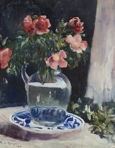Frank Weston Benson (1862-1951), Red Roses, 1922