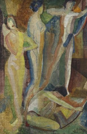 Arthur Bowen Davies (1862–1928), Synchromy with Figures, circa 1916